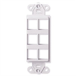 Leviton Decora Quickport Plate 6 Ports - White