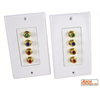 Azco RGB Video / Digital Audio Extender Over CAT5E Plate Inserts With Plates