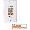Azco HDTV Over CAT5E Receiver Wall Plate For Use With AZBLN1247DW