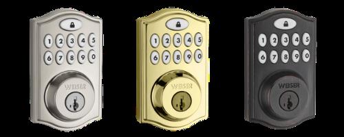 Weiser Smartcode 10 Zwave Plus 11 Button Traditional Deadbolt in Satin Nickel, Brass, and Bronze