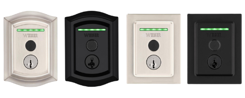 Weiser Halo Touch WiFi Smart Traditional and Contemporary Lock w/ Finger Print Reader
