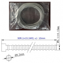 """Azco 3/16"""" ID Armored Cable, 50ft"""