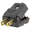 Leviton 15Amp, 125 Volt Plug, Straight Blade, Polarized, Non-Grounding, Black