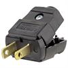 Leviton 15Amp, 125 Volt Plug, Straight Blade, Polarized, Non-Grounding, Black
