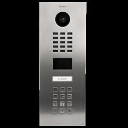 DoorBird IP Video Door Station, 1 Call Button, Keypad, Stainless Steel