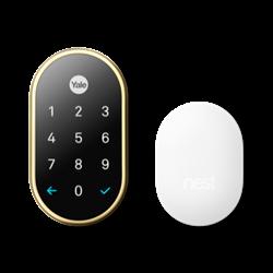 Yale NEST x WiFi Smart Lock with NEST Connect - Polished Brass