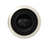 Channel Vision 6.5 Inch Single Point Ceiling Speaker with Stereo Tweeters, White