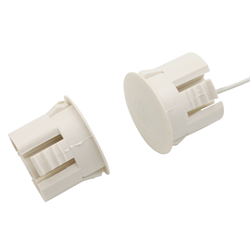 Flair Recessed Magnetic Contact 1 Inch Self Locking Leads White