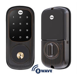 Yale Assure Lock Zwave Touch Screen Deadbolt Oil Rubbed Bronze