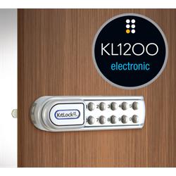 Codelocks Kitlock Electronic Locker Lock Right Hand Horizontal Silver Gray