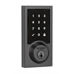 Weiser SmartCode 10 Zwave Plus Contemporary Touch Screen Deadbolt, Iron Black