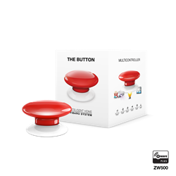 Fibaro The Button Zwave Battery Powered Device and Scene Control Button, Red