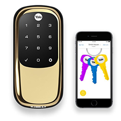 Yale Zwave Plus Touchscreen Key Free Deadbolt With Bluetooth, Polished Brass