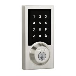 Weiser Premis HomeKit Touch Screen Contemporary Deadbolt Lock, Satin Nickel