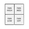 INSTEON Fanlinc Button Kit for KeypadLinc White