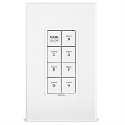 INSTEON Dual Band Keypad Dimmer 8 Button White