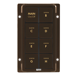 INSTEON KeypadLinc 8 Button Faceplate Brown