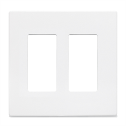 insteon screwless decora wall plate 2 gang white. Black Bedroom Furniture Sets. Home Design Ideas