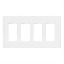 INSTEON Screwless Decora Wall Plate, 4 Gang, White