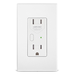 INSTEON Dual Band OutletLinc Dimmer Wall Receptacle White