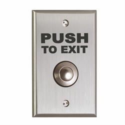 Camden Vandal Resistant Button DPDT Momentary PUSH TO EXIT