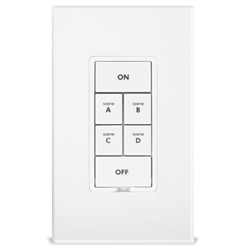 INSTEON Dual Band KeypadLinc Scene Controller With On Off Switch White