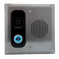 Logenex Teleport Flush Mount IP Video Door Station, Stainless Steel