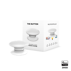 Fibaro The Button Zwave Battery Powered Device and Scene Control Button, White