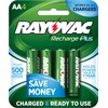 Rayovac Rechargeable NiMH AA Batteries, 4 Pack