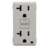 Leviton Renu 20A GFCI Receptacle Face Kit Pebble Gray