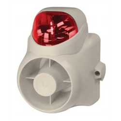 WBOX Vandal Resistant Self-contained Siren with Red Strobe