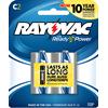 Rayovac C Alkaline Batteries, 2 Pack