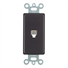 Leviton Decora Telephone Wall Jack 6P4C Black