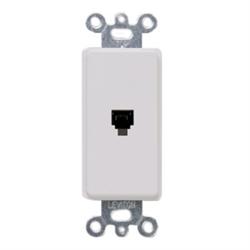 Leviton Decora Telephone Wall Jack 6P4C White