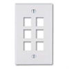 Leviton Quickport 6 Port Wallplate White