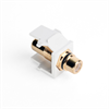 Leviton Quickport RCA Female To Female White With Black Stripe