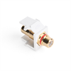 Leviton Quickport RCA Female To Female White With Red Stripe