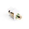 Leviton Quickport RCA Female To Female White With Green Stripe