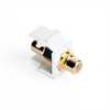 Leviton Quickport RCA Female To Female White With Yellow Stripe