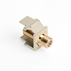 Leviton Quickport Gold Plated F Connector Ivory Trim