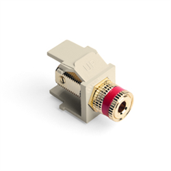 Leviton Quickport Binding Post Ivory with Red Stripe