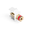 Leviton Quickport Binding Post White with Red Stripe