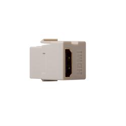 Leviton Quickport HDMI Pass Thru Connector Light Almond
