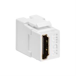 Leviton Quickport HDMI Pass Thru Connector White