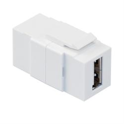 Leviton Quickport USB Pass Thru Connector White
