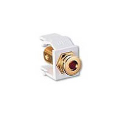 Leviton Quickport Gold Banana Jack w/Black Stripe