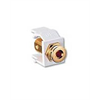 Leviton Quickport Gold Banana Jack w/Red Stripe