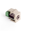 Leviton Quickport Snap-in Module 3.5mm Stereo Jack Female To Screw Term Ivory