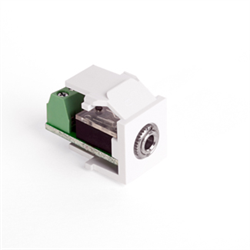 Leviton Quickport Snap-in Module 3.5mm Stereo Jack Female To Screw Term White