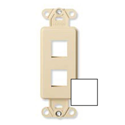 Leviton Quickport Decora Plus Insert 2 Port White